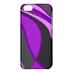 Purple Elegant Lines Apple iPhone 5C Hardshell Case