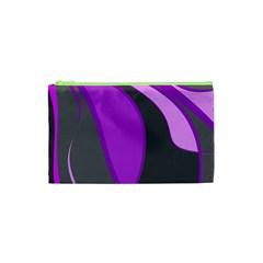 Purple Elegant Lines Cosmetic Bag (XS)