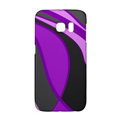 Purple Elegant Lines Galaxy S6 Edge