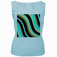 Elegant Lines Women s Baby Blue Tank Top