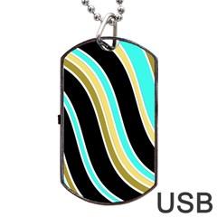 Elegant Lines Dog Tag USB Flash (One Side)