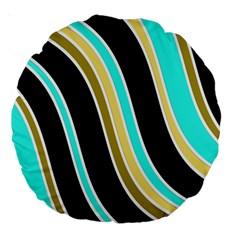Elegant Lines Large 18  Premium Round Cushions