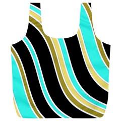 Elegant Lines Full Print Recycle Bags (L)