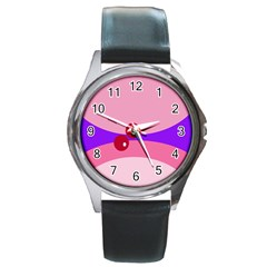Decorative Abstraction Round Metal Watch
