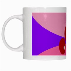 Decorative Abstraction White Mugs