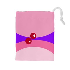 Decorative Abstraction Drawstring Pouches (Large)