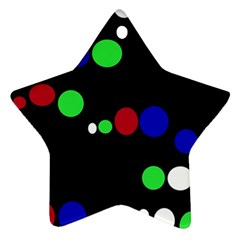 Colorful Dots Ornament (Star)