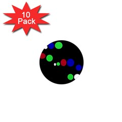 Colorful Dots 1  Mini Magnet (10 pack)