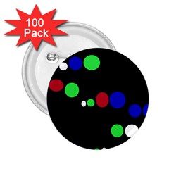 Colorful Dots 2.25  Buttons (100 pack)