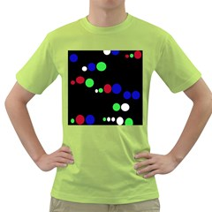 Colorful Dots Green T-Shirt