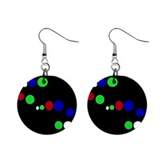 Colorful Dots Mini Button Earrings