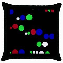 Colorful Dots Throw Pillow Case (Black)