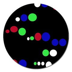 Colorful Dots Magnet 5  (Round)