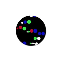 Colorful Dots Golf Ball Marker (10 pack)