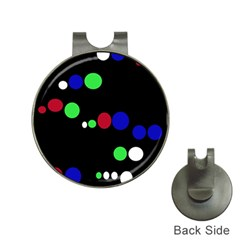 Colorful Dots Hat Clips with Golf Markers