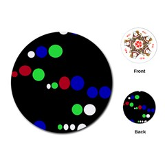 Colorful Dots Playing Cards (Round)
