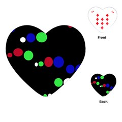 Colorful Dots Playing Cards (Heart)