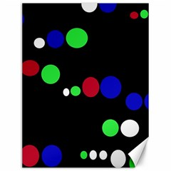 Colorful Dots Canvas 12  x 16