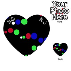 Colorful Dots Playing Cards 54 (heart)