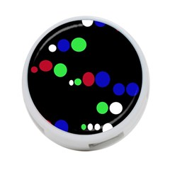 Colorful Dots 4-Port USB Hub (Two Sides)