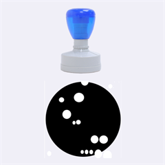 Colorful Dots Rubber Round Stamps (Medium)
