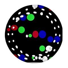Colorful Dots Ornament (round Filigree)