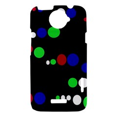 Colorful Dots HTC One X Hardshell Case