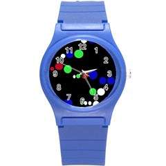 Colorful Dots Round Plastic Sport Watch (S)