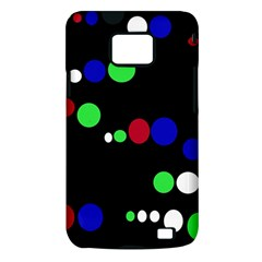 Colorful Dots Samsung Galaxy S II i9100 Hardshell Case (PC+Silicone)