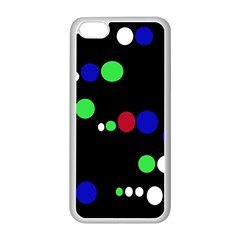 Colorful Dots Apple iPhone 5C Seamless Case (White)
