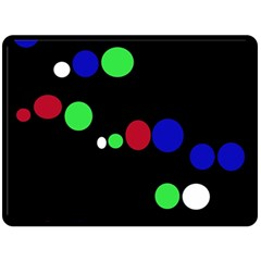 Colorful Dots Double Sided Fleece Blanket (large)