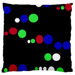 Colorful Dots Standard Flano Cushion Case (Two Sides)