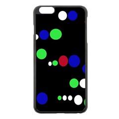 Colorful Dots Apple iPhone 6 Plus/6S Plus Black Enamel Case