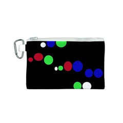 Colorful Dots Canvas Cosmetic Bag (S)