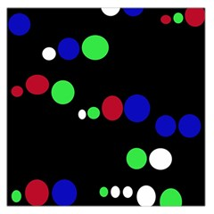 Colorful Dots Large Satin Scarf (Square)