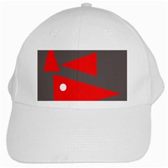 Decorative Abstraction White Cap