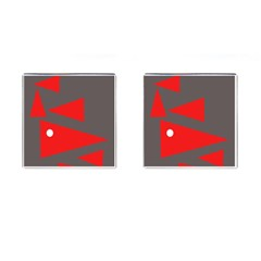 Decorative Abstraction Cufflinks (Square)