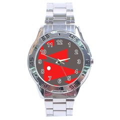 Decorative Abstraction Stainless Steel Analogue Watch