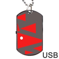 Decorative Abstraction Dog Tag USB Flash (One Side)