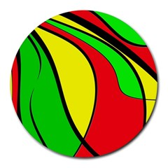 Colors Of Jamaica Round Mousepads