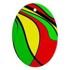 Colors Of Jamaica Ornament (Oval)