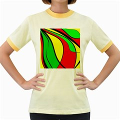 Colors Of Jamaica Women s Fitted Ringer T-Shirts