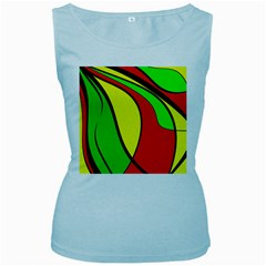 Colors Of Jamaica Women s Baby Blue Tank Top