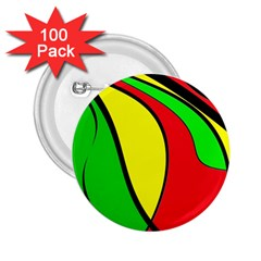 Colors Of Jamaica 2.25  Buttons (100 pack)