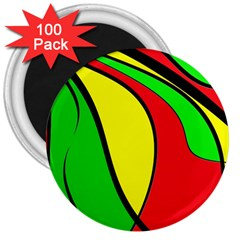 Colors Of Jamaica 3  Magnets (100 pack)