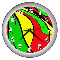 Colors Of Jamaica Wall Clocks (Silver)
