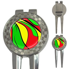 Colors Of Jamaica 3-in-1 Golf Divots