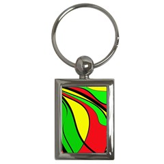 Colors Of Jamaica Key Chains (Rectangle)