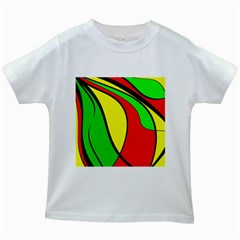 Colors Of Jamaica Kids White T-Shirts