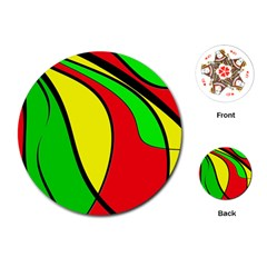 Colors Of Jamaica Playing Cards (Round)